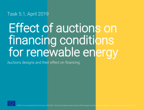 Effects of auctions on financing conditions for renewable energy