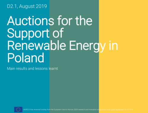 Auctions for the Support of Renewable Energy in Poland