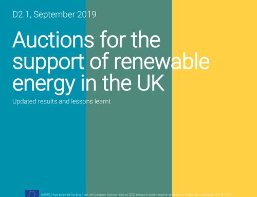 Auctions for the support of renewable energy in the UK