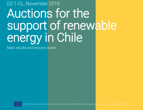 Auctions for the support of renewable energy in Chile