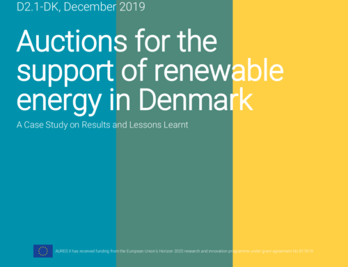 Auctions for the support of renewable energy in Denmark