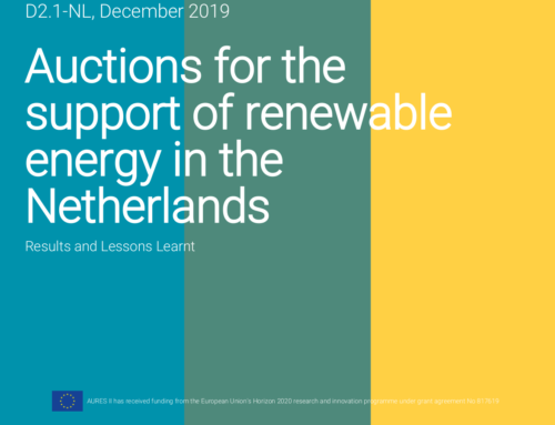 Auctions for the support of renewable energy in the Netherlands