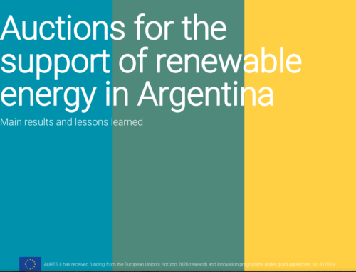 Auctions for the support of renewable energy in Argentina