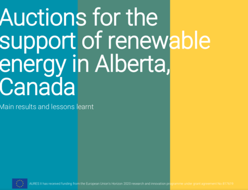 Auctions for the support of renewable energy in Alberta, Canada