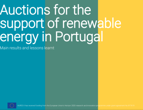 Auctions for the support of renewable energy in Portugal