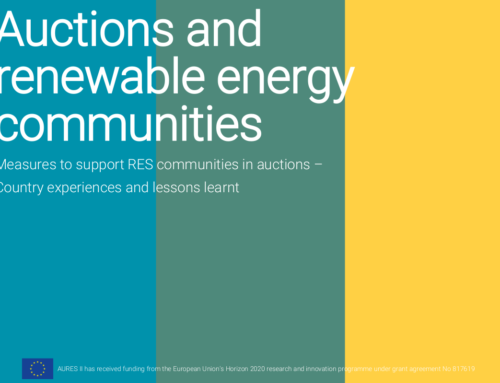 Auctions and renewable energy communities