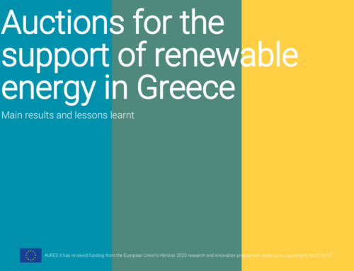 Auctions for the support of renewable energy in Greece