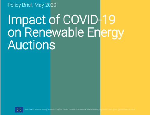 New Policy Brief on the Impact of COVID-19 on Renewable Energy Auctions