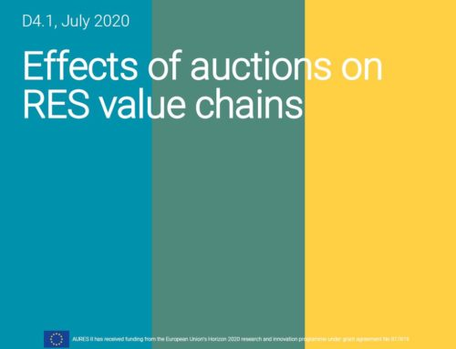 Effects of auctions on RES value chains