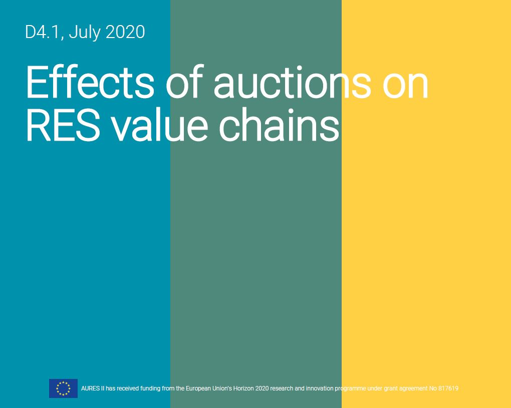 auctions RES value chains