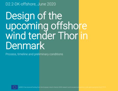 Design of the upcoming offshore wind tender Thor in Denmark