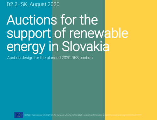 Auctions for the support of renewable energy in Slovakia