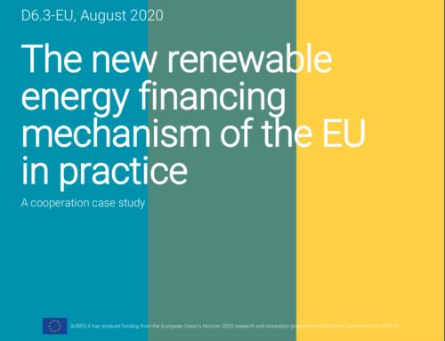 The new renewable energy financing mechanism of the EU in practice