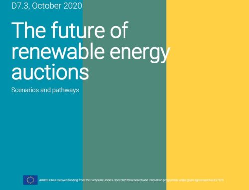 The future of renewable energy auctions
