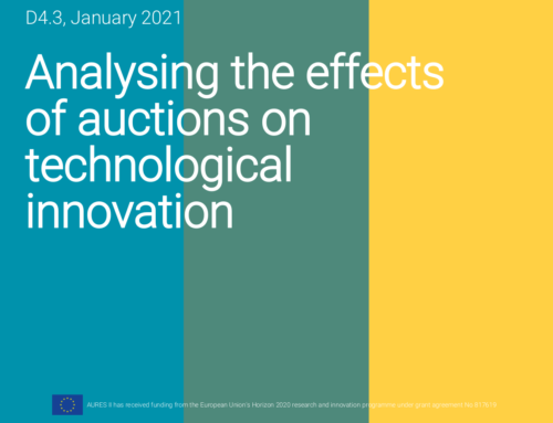 Analysing the effects of auctions on technological innovation