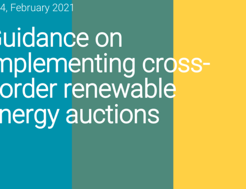 Guidance on implementing cross-border renewable energy auctions