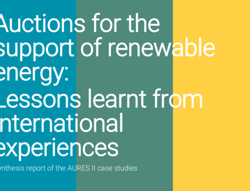 Auctions for the support of renewable energy: Lessons learnt from international experiences