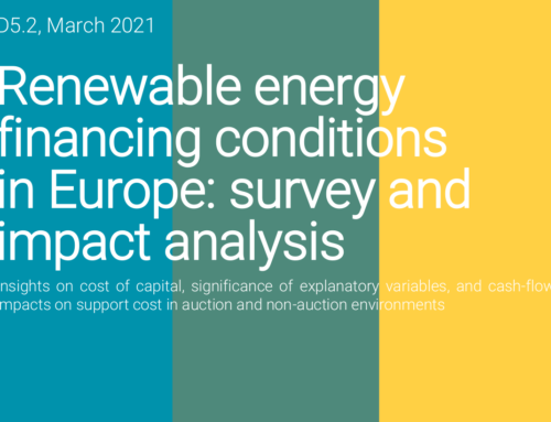 Renewable energy financing conditions in Europe: survey and impact analysis